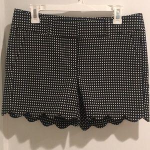 Ann Taylor Black & White Polkadot shorts